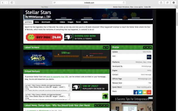 Stellar Stars - On IndieDB