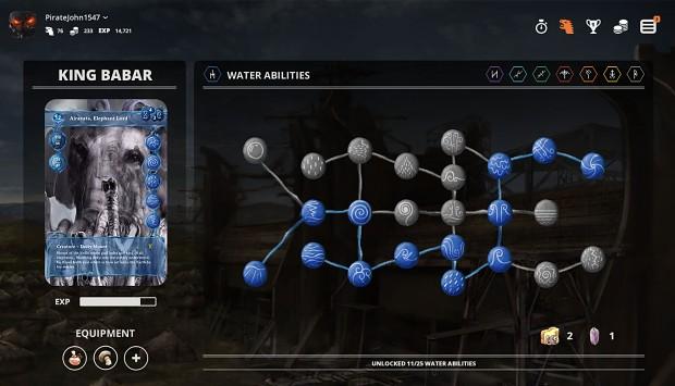 Water elemental skill tree.