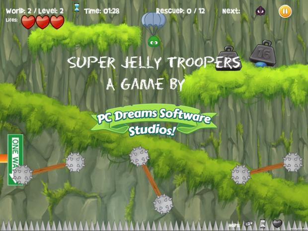 Mac OSX Promo screen - Super Jelly Troopers