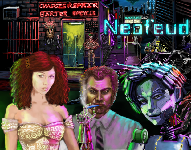 Neofeud Extra Cyberpunk Poster