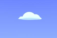 Happy Cloud rendered in Modo