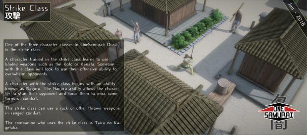 OneSamurai: Dusk Combat Class Information