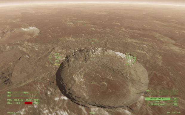 Details of a Procedural Crater