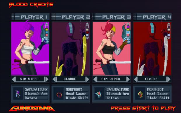 Gunkatana - Character Select