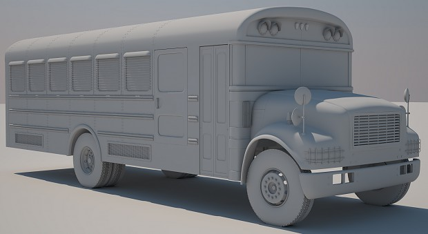 Bus highpoly front wip