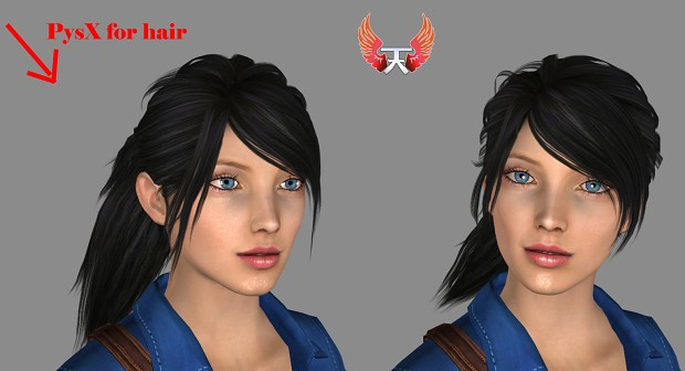 Alicia Wallace - new and clean cloths - hair physx