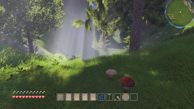 procedural 3d mushrooms