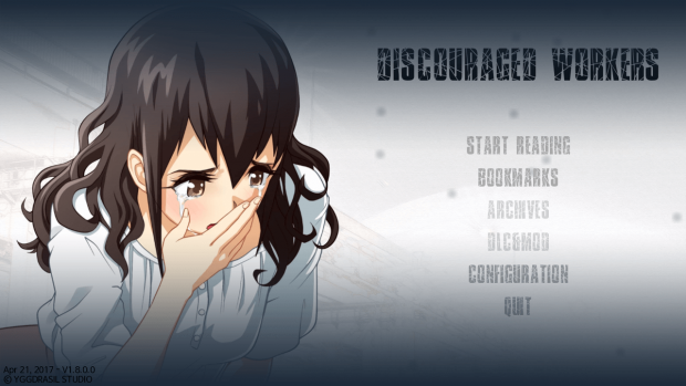 Discouraged Workers Title Screen.