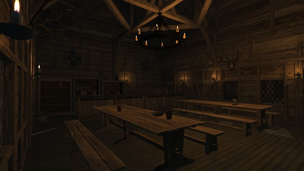 New buildings: smithy, shops and taverns