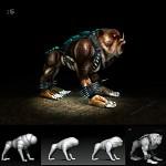 Blood the Bulldog 3d Model Alt Texture