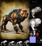 Blood the Bulldog 3d Model Design Process