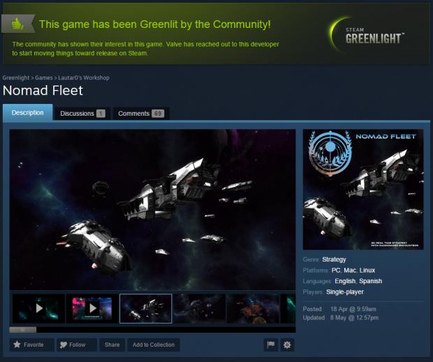 Greenlit on Steam!