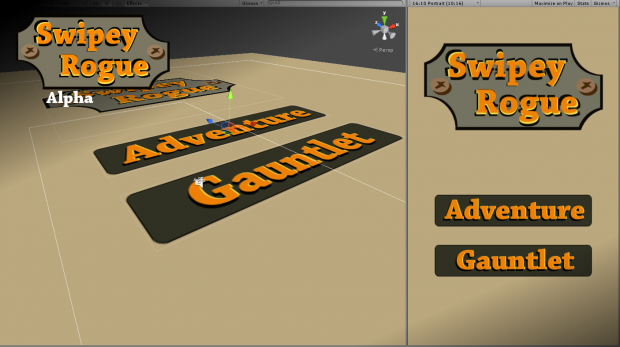 Swipey Rogue - update 04, dev screen 01