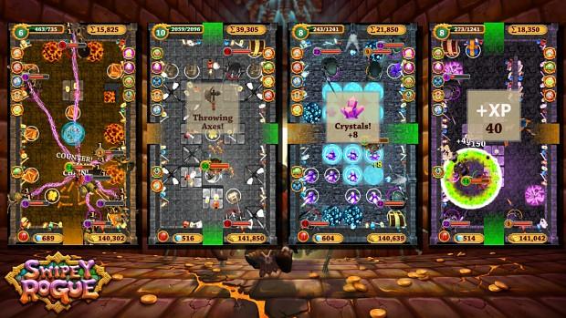 Swipey Rogue Press Kit - Free Running Gameplay Collage 1