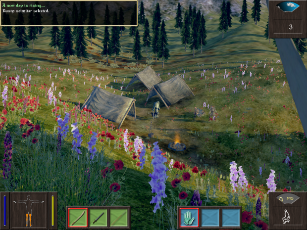 Mercenary Campsite in 1st mission