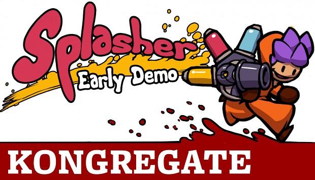 Splasher Demo is on Kongregate !