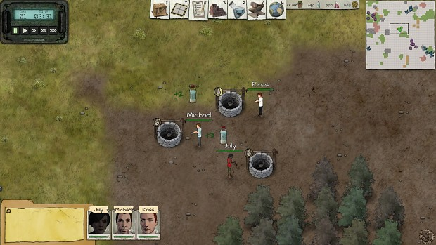Wells - gather water for drinking and crafting