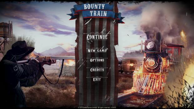 Bounty train main screen