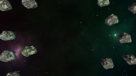 Freshly spawned asteroids