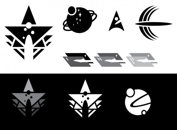 Some more WIP, model fidelity and faction logos.