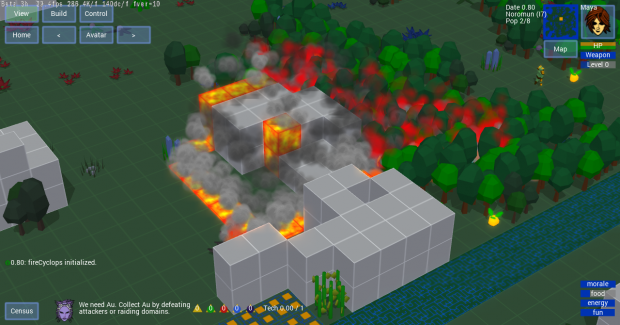 Volcano and Fire