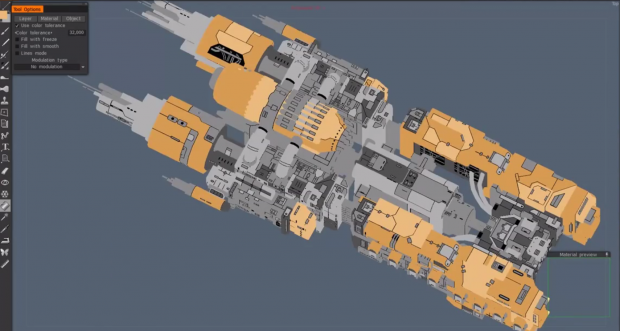Dev Diary #6 - the Atlantes spaceship  - WIP