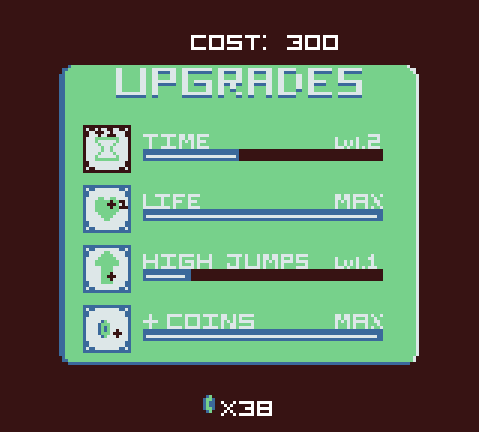 Upgrades Screen