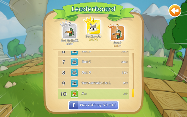 Leaderboard (with friends)