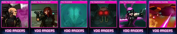 Void Raiders steam cards