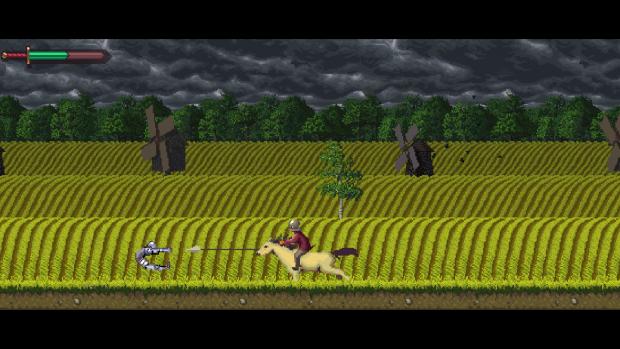 Speared By Horseman