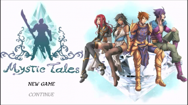 New game title screen