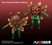 ALIENGINE Character Showcase Mothman 01