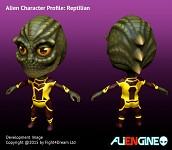 ALIENGINE Character Showcase Reptilian 01