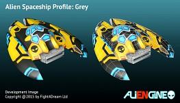 Spaceship Grey Back