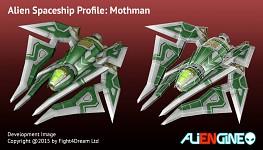 Spaceship Mothman Front