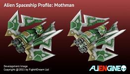 Spaceship Mothman Back