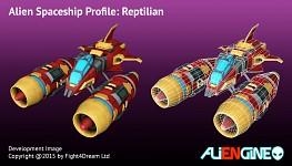 Spaceship Reptilian Front