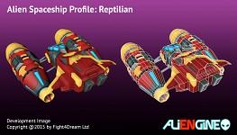 Spaceship Reptilian Back