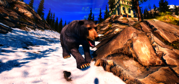 Be careful, bears are dangerous. From The Living Z7 game