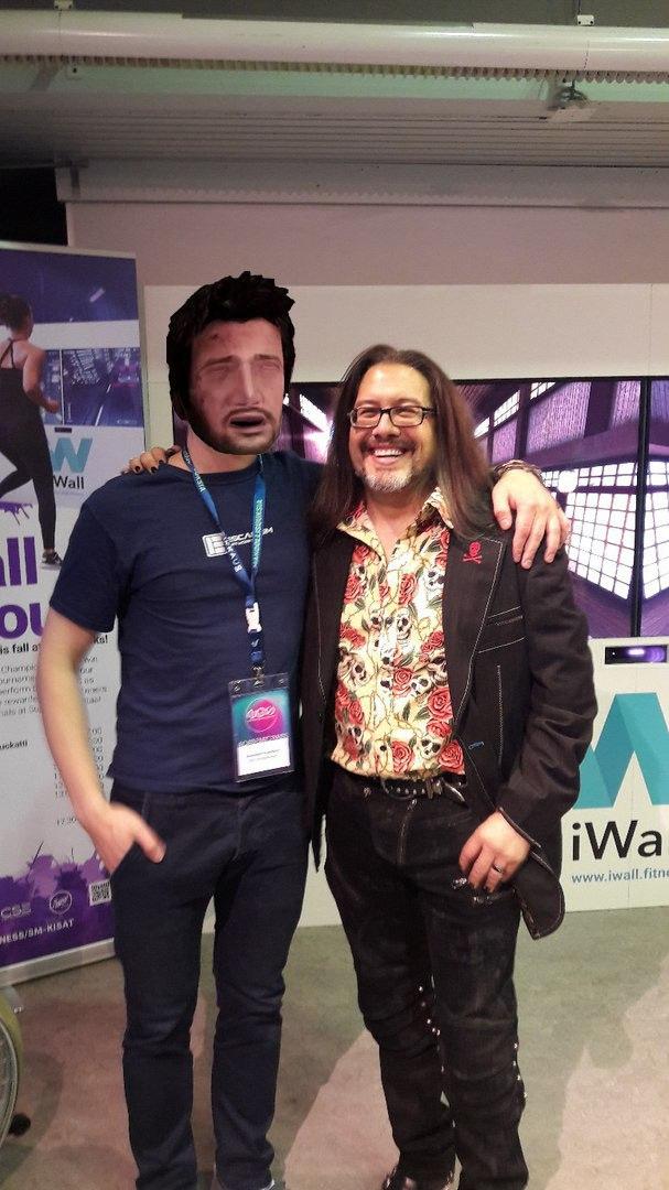 I happened to meet John