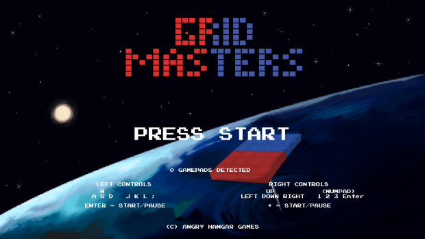 Grid Masters Title Screen