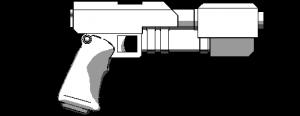 Large terran pistol