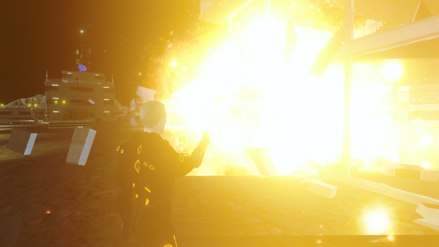 Yeah! Explosions! Almost any wall is destructible.