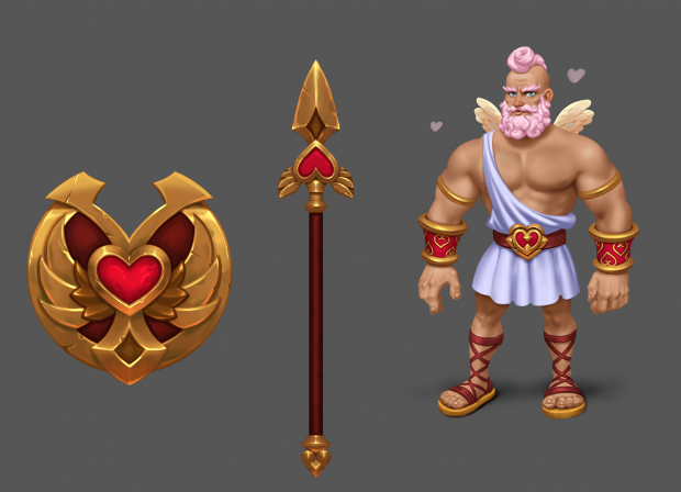 St. Valentine's skins for heroes are available!