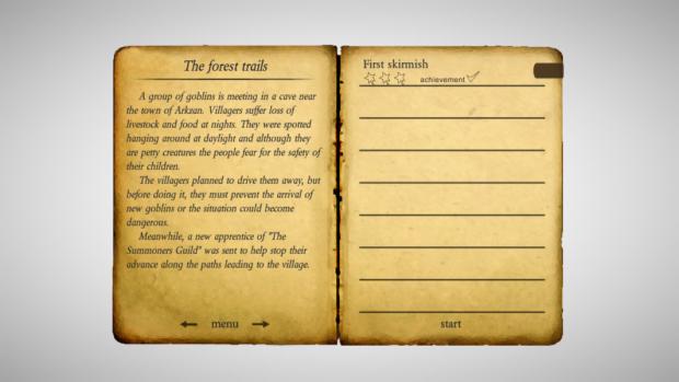 Game menus