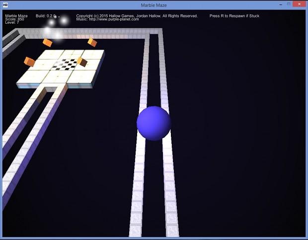 Marble Maze Version 0.2.0 Screen 3