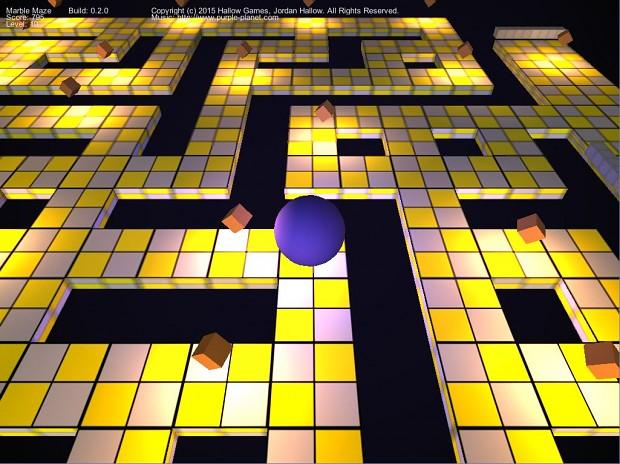 Marble Maze Version 0.2.0 Screen 5