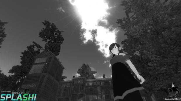 Monochrome Experiments of Temiko Battle Splash