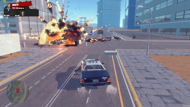 Car chase and Explosion!