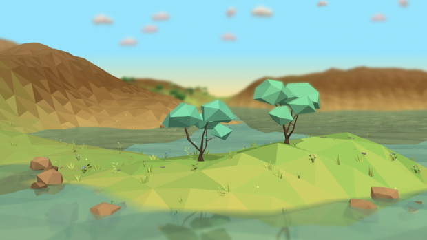 Large Low-Poly Trees